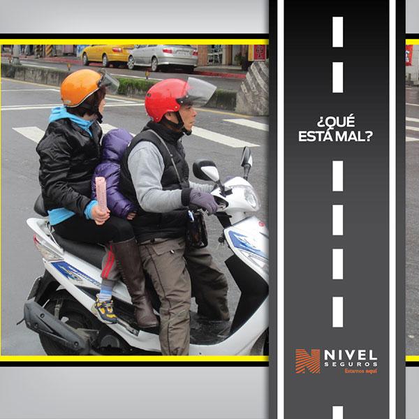 No usar casco al conducir motos